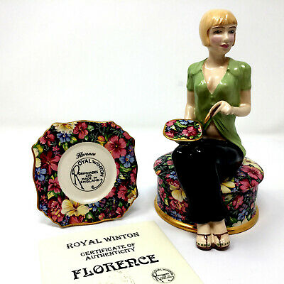 $ CDN128.22 • Buy Grimwades Royal Winton Florence The Chintz Girl Gloss Figurine With Plaque