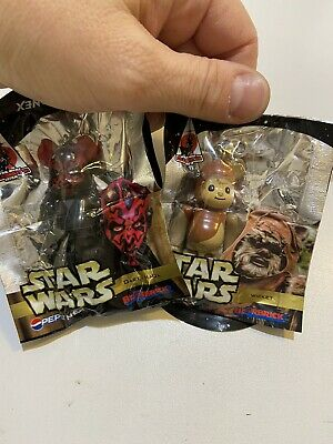 $23.52 • Buy Medicom Bearbrick Pepsi Star Wars Wicket Darth Maul Figure Keyring Keychain