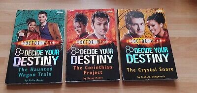 Doctor Who Paperback Books Decide Your Destiny - Used X 3 • 3.50£
