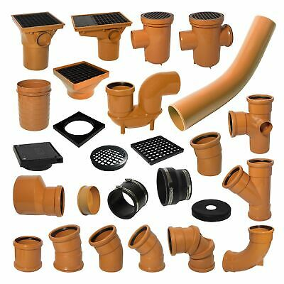 £7.03 • Buy Underground Drainage 110mm Pipe Fittings Bend Trap Gulley Socket Grid Coupler