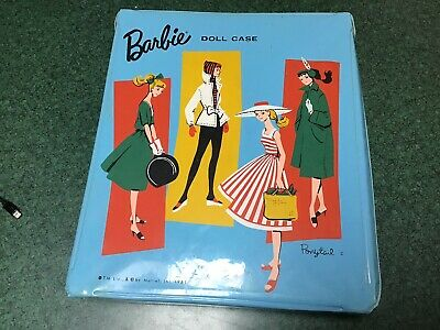 $ CDN96.72 • Buy Vintage 1961 Blue Ponytail Barbie Case With Barbie And Clothes