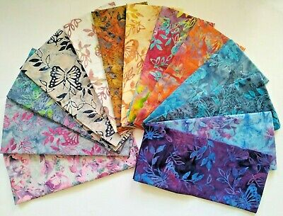 £12 • Buy Batik Fabric, Butterfly Print, 100% Cotton, FQ ,Crafting, Quilting Patchwork.