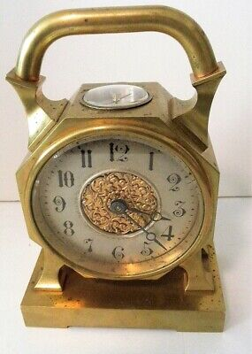 AU387.03 • Buy FRANCE BRONZE 8 DAY MANTLE DESK CLOCK And COMPASS