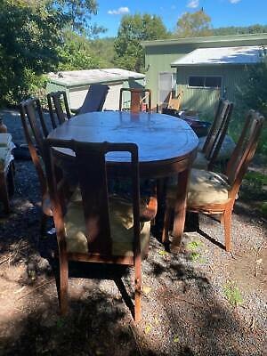 AU200 • Buy Large Carved Dining Table And Chairs