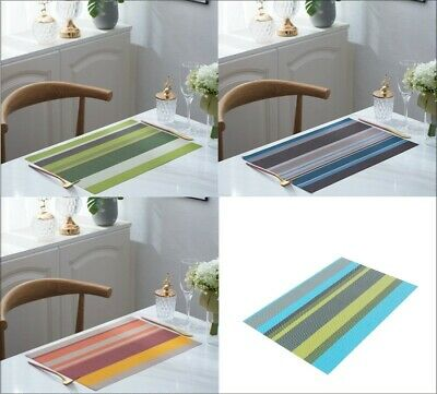 AU11.97 • Buy Placemats Kitchen Dining Dinner Table Mat Woven Washable Table Place Mats