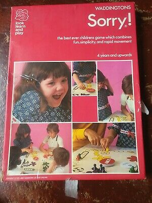 £11 • Buy Vintage SORRY! 1970's Board Game From Waddingtons Retro