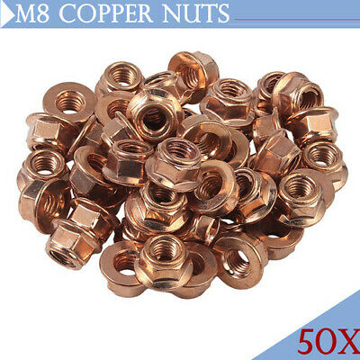 £9.55 • Buy 50x Copper Flashed Exhaust Manifold Nut M8 8mm Nuts High Temperature Nuts