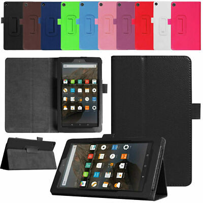 For Amazon Kindle Fire 7 2017 2019 7  Tablet Folio Leather Flip Cover Stand Case • 5.99£