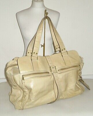 £174.99 • Buy MULBERRY MABEL - Sand Beige Antique Leather HOLDALL Tote Weekend Bag - EX LARGE