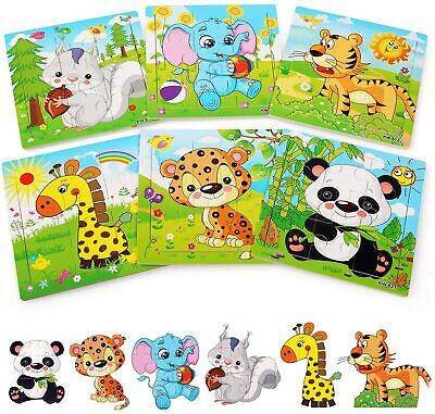 £10.25 • Buy BelleStyle Wooden Puzzle For 2 3 4 5 Years Old 6 Pack Animal Jigsaw Kids Toy
