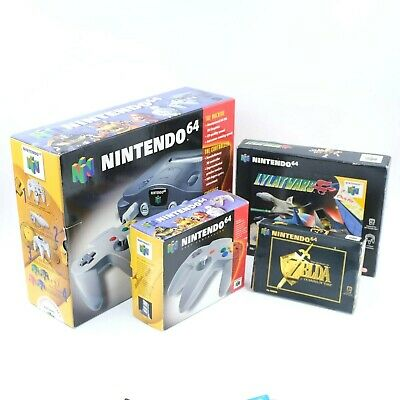 AU715.51 • Buy Nintendo 64 N64 Console Bundle Boxed With Zelda Ocarina Of Time Collector's PAL