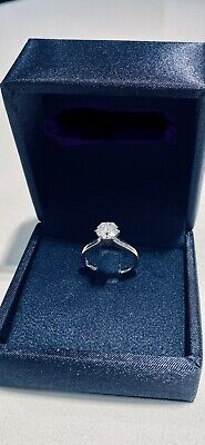 AU7800 • Buy 1.17ct HRD Certified Diamond Solitaire Ring 18K White Gold.