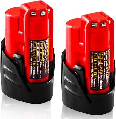 £15 • Buy 2 Pack M12 3.0Ah Replacement Battery For Milwaukee 12V