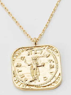£14.99 • Buy Orelia Necklace Square Coin Gold Plated New!!!