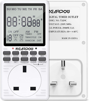 £26.91 • Buy Digital Electrical Timer NEARPOW Electrical Programmable Timer Switch For 24 For