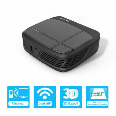 CAIWEI Mini WiFi 3D Projector DLP Wireless Miracast Airplay 1080P For IOS Phone • 201£