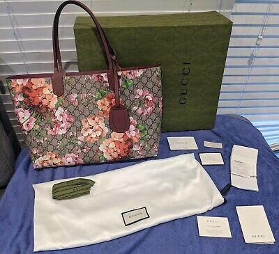 AU875 • Buy Gucci Blooms Tote Bag - Full Set Inc. Proof Of Purchase.