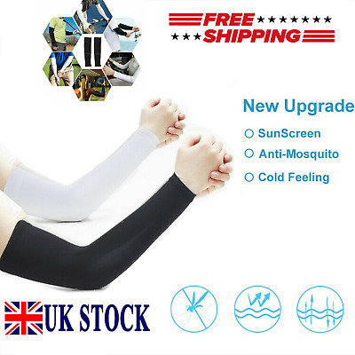 £4.69 • Buy 2Pairs Outdoor Sports Arm Sleeve UV Sun Protection Breathable Arm Warmers Cover