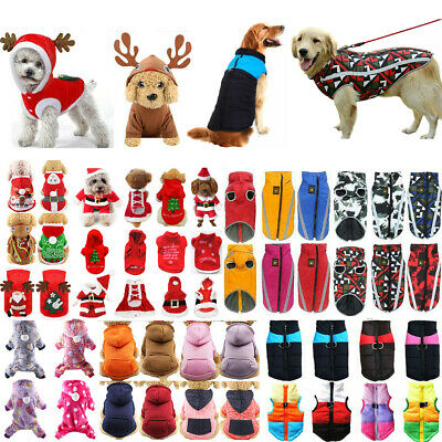 Pet Dog Fancy Hooded Coat Jacket Puppy Christmas Sweater Jumper Clothes Tops • 4.59£