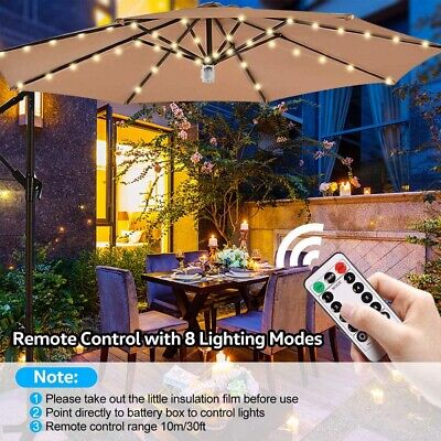 AU34.74 • Buy 8 Strips Leds Umbrella Lights Copper Wire Patio Wigwam Tent String Lights Remote
