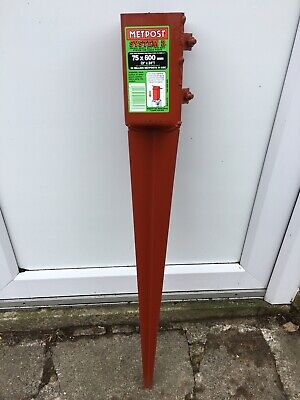 £9.99 • Buy Metpost System 2 Fence Post Spike 75 Mm X 600 Mm