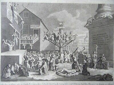 £80 • Buy William Hogarth, Emblematic Print On The South Sea Bubble. Engraving