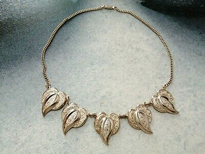 £1.50 • Buy Women Girls Silver Leaf Nature Floral Chunky Elegant Necklace Jewellery Jewelry