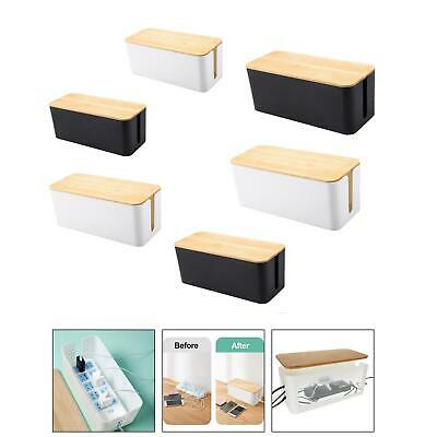 Stylish Power Strips Hider Cable Management Box Concealer Cord Organizer • 9.58£