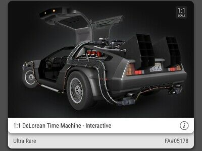 $310 • Buy VeVe NFT Back To The Future DeLorean ULTRA RARE FA#05178 SOLD OUT 3D Collectible