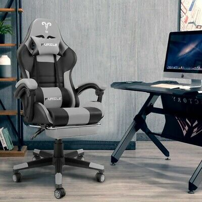 AU86.82 • Buy New PC Gaming Chair Office Chair Racing Gaming Ergonomic Flip Up Arms Footrest
