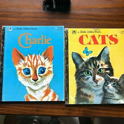 £11.35 • Buy Little Golden Books Charlie 1970 And Cats 1976