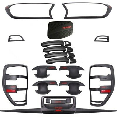 AU279 • Buy  Black Out Accessories Kit For Ford Ranger  - 24 Piece (2018 - 2021)