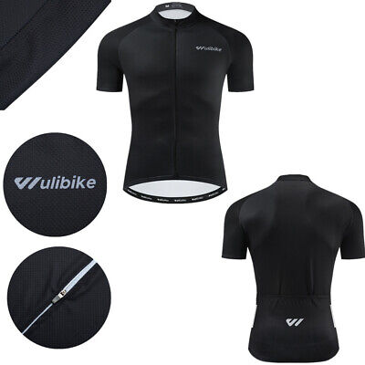 $19.89 • Buy Men's Black Cycling Jersey Short Sleeve Breathable Quick Dry Outdoor Tops Shirt