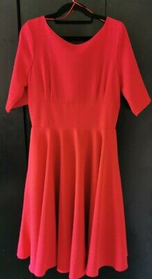AU57.05 • Buy BNWT Pretty Dress Company Size 12 Hepburn Red Pinup Fit And Flare Swing