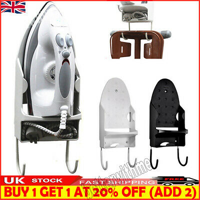 £11.99 • Buy Wall Mounted Ironing Board Hanger Iron Holder Rack Table Hook Home Storage