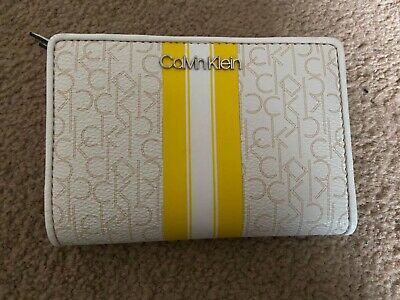 £30 • Buy Calvin Klein Purse Wallet, White And Yellow. New With Tags