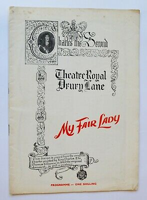 £3.99 • Buy 1958 My Fair Lady Theatre Programme Theatre Royal - Anne Rogers And Alec Clunes