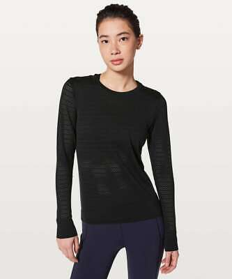 $ CDN29.92 • Buy Lululemon Breeze Black Long Sleeved Top Gym Yoga Exercise US4 UK8