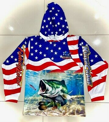 AU69.95 • Buy New America Large Mouth Bass Fishing Shirt - All Kids & Adult Sizes