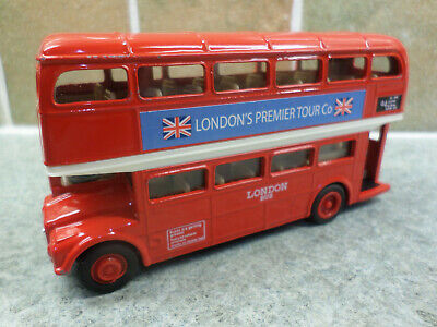 $ CDN8.46 • Buy Welly 99930 London Premier Tour Co Red Double Decker Pullback Powered Bus