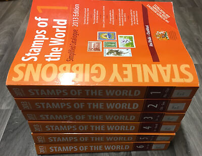 £499 • Buy 2013 Stanley Gibbons Stamps Of The World Full Set Of 6 Catalogues A-z Vgc Ex Lib