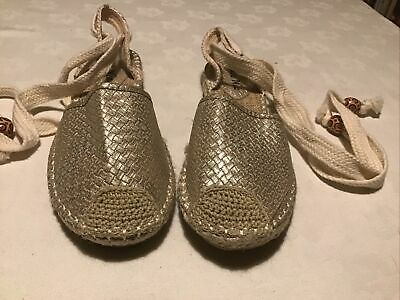 £7.50 • Buy Ladies Espadrille Style Slingback Sandal With Ankle Tie Size 7/40 New