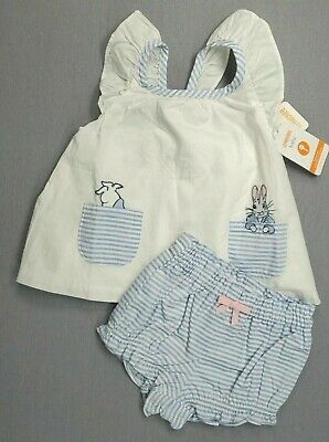 AU42.12 • Buy Baby Girl Clothes New Gymboree 0-3 Month 2pc Peter Rabbit Dress Outfit