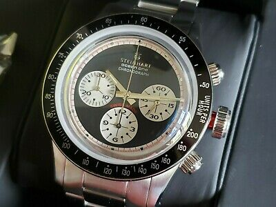 $ CDN1209.05 • Buy Steinhart Ocean One Vintage Chronograph Reverse Panda 42mm Swiss Automatic MINT