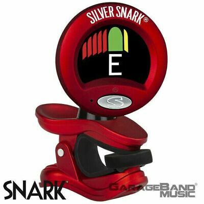 $ CDN24.18 • Buy Snark SIL-RED Red Silver Snark Clip-On Tuner For All Instruments, Guitar / Bass