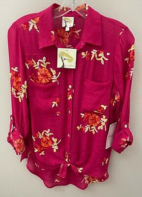 $ CDN44.89 • Buy Anthropologie Fig & Flower Peasant Boho Blouse Top Tunic Embroidered Floral NWT