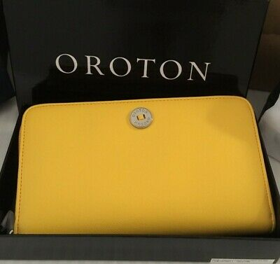 AU39 • Buy OROTON New Federation Fold Clutch Wristlet Wallet Purse Sunset NIB 30315