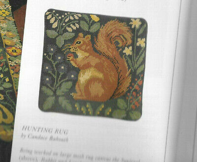 Squirrel Tapestry Needlepoint Chart Colour Candace Bahouth Ehrman Hunting Rug • 5.99£