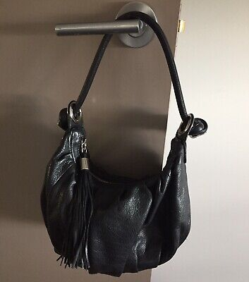 AU13.50 • Buy Oroton Black Leather Bag. Silver Hardware. Small.
