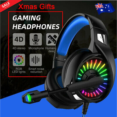 AU22.98 • Buy PC Gaming Headset Laptop LED Surround Headphones Mic 3.5mm USB For Mac PS4 2021